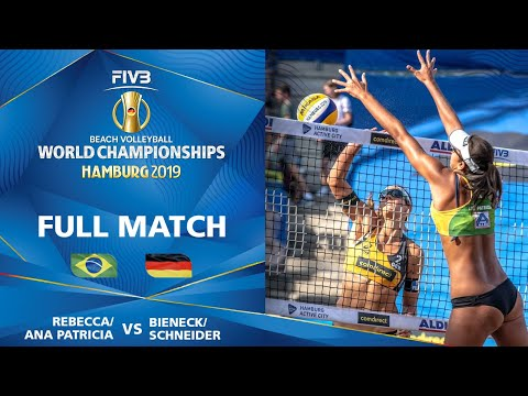 Ana Patricia/Rebecca vs. Bieneck/Schneider - Full Match | Beach Volleyball World Champs Hamburg 2019
