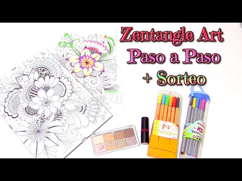 Zentangle Art paso a paso tutorial + sorteo Internacional | Isa ❤️