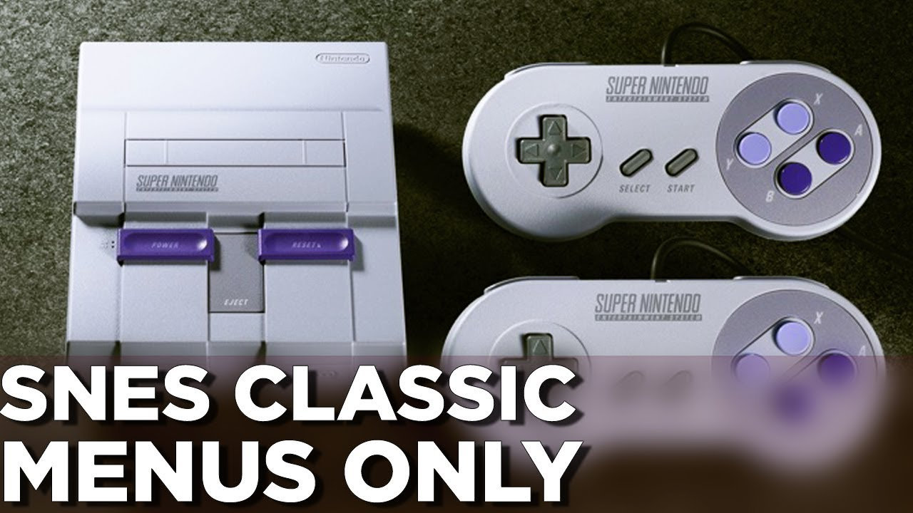 These are the SNES Classic Edition's menus - Polygon