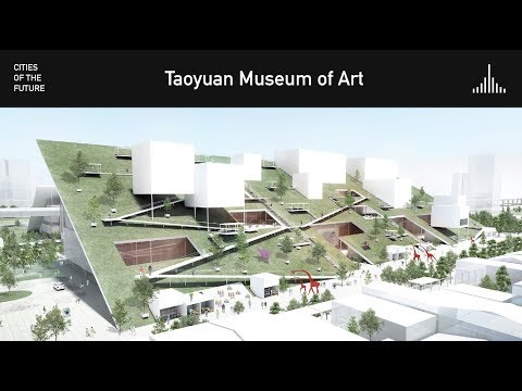 Winning Design for Taoyuan Art Museum features sloped Green Roofs