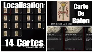 Red Dead Online - Carte de Tarot : Bâton / Localisation 14 Cartes