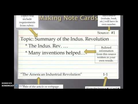 Making Research Notecards