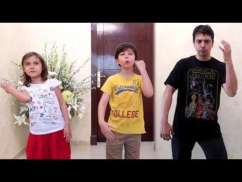 فيديو أب يحرج أطفاله بالرقص!