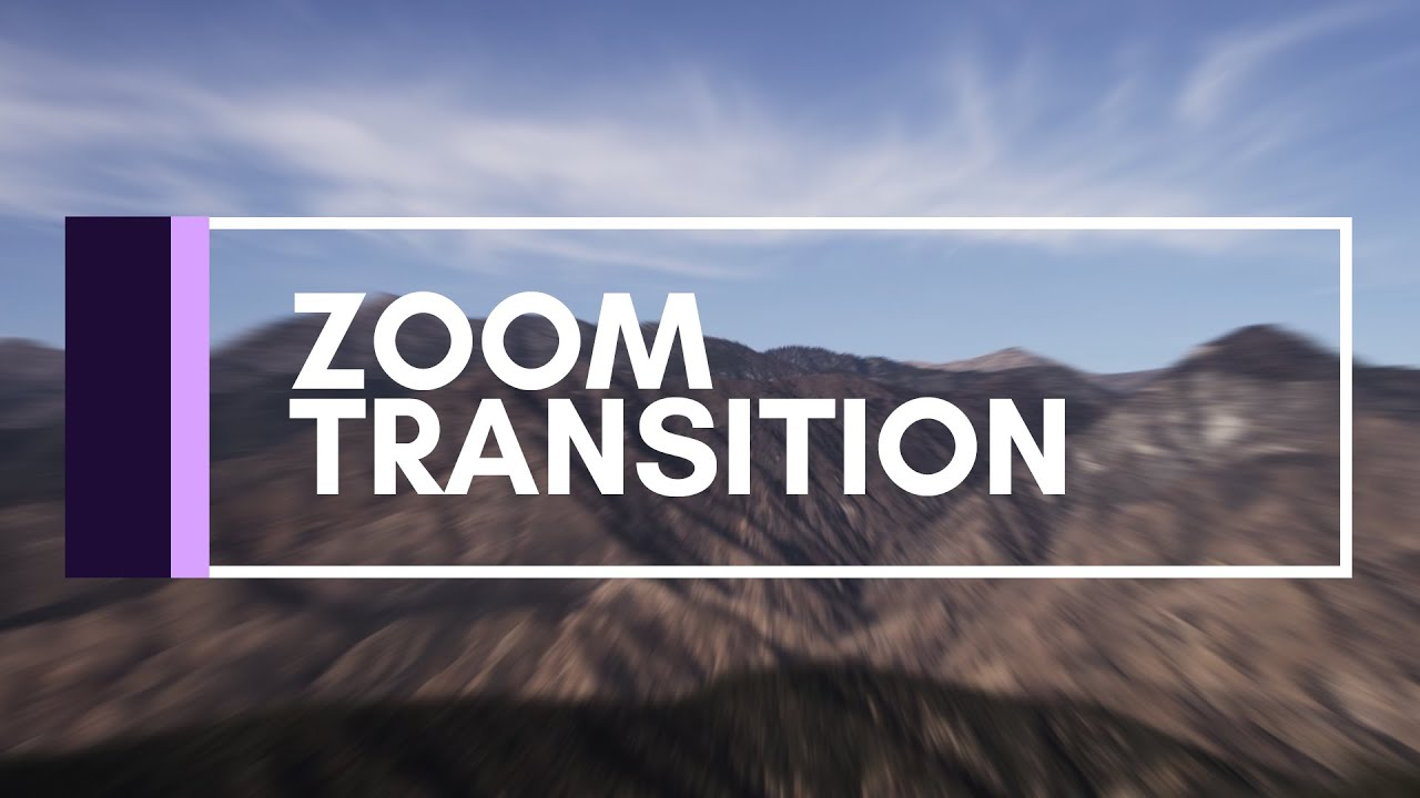 After Effects Tutorial | Zoom Transition - YouTube