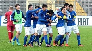 Gli Azzurrini battono i serbi con i gol di Merola e Biancu e si qua...
