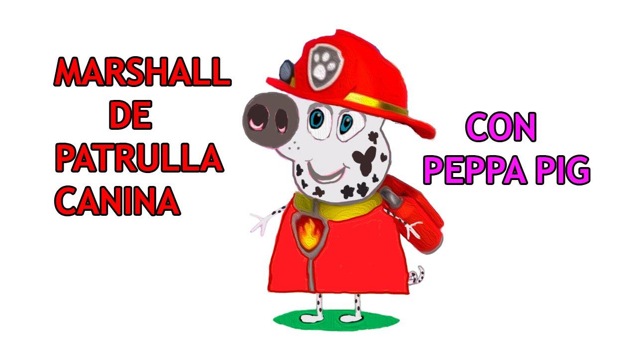 MARSHALL LA PATRULLA CANINA PAW PATROL Con Peppa Pig