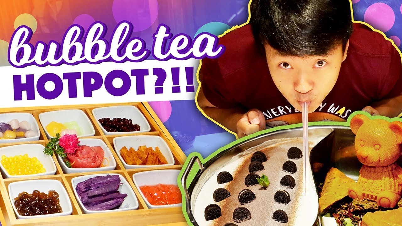 CRAZY Food?! BUBBLE TEA / MILK TEA HOTPOT in New York Review!