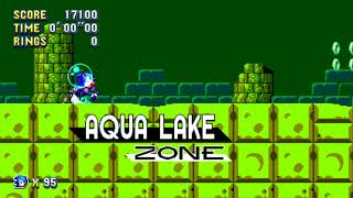 Sonic Mania (PC)- 8bit Sonic 2 Revamped - Aqua Lake Zone MOD[Preview]