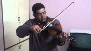 Tujhe dekha to ye jana sanam pyar hota hai diwana sanam  on violin