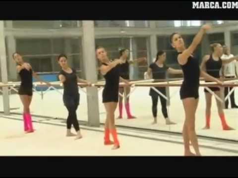 Hoy entrenamos con... La selección española de gimnasia rítmica
