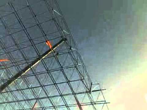 Space frame erection
