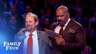 40 points on his final answer! Is it enough? | Family Feud