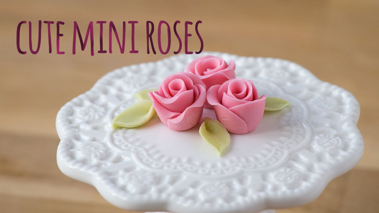 How To Make A Sugar Mini Rose  By Minh Cakes