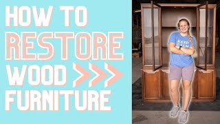 Upcycling a Hutch | H๐w to EASILY Restore Worn Out Wood