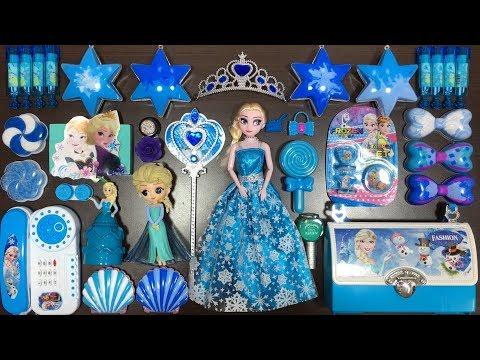 BLUE DISNEY PRINCESS FROZEN Elsa U0026 Anna Slime | Mixing Random Things Into Slime | Tom Slime