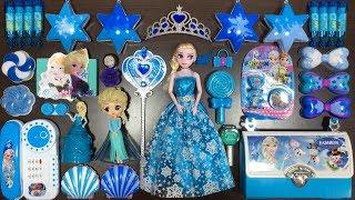BLUE DISNEY PRINCESS FROZEN Elsa \u0026 Anna Slime | Mixing Random Things into Slime | Tom Slime