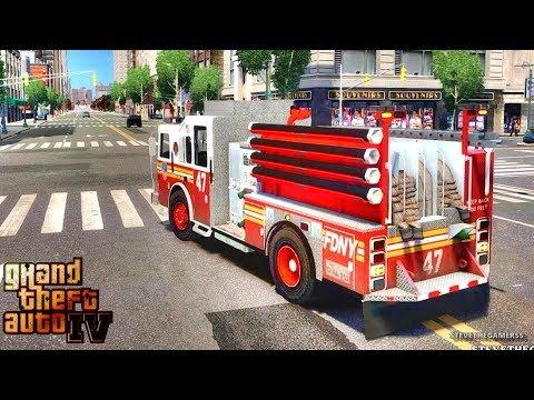 Grand Theft Auto IV - FDLC/FDNY - 49th day with the fire department! #TBT