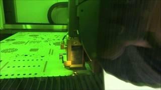 electra fiberlaser lvd in actie tijdens open huis 2014 in gullegem b