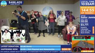"""https://www.desertbus.org/ The room dances to """"HATE"""", by Charisma.c..."""