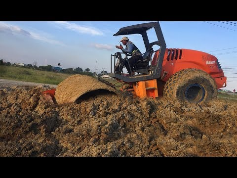 Heavy Equipment HAMM 3410 Road Roller Recovery