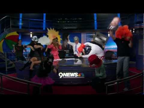 9NEWS Weekend Morning crew Harlem Shake - Featuring Peyton Manning