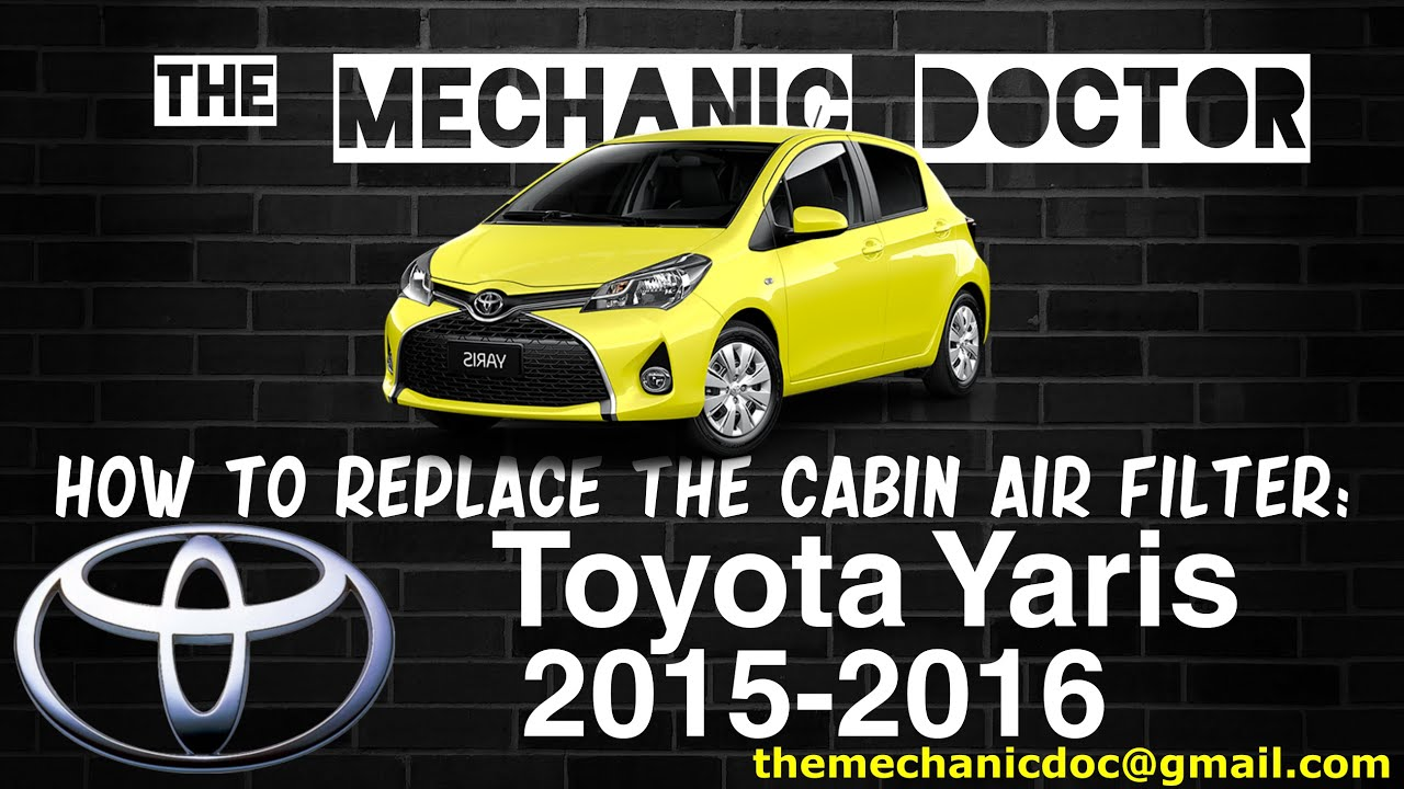 How to replace the cabin air filter toyota yaris 2015 2016 youtube