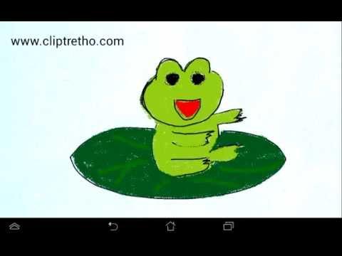 Vẽ con ếch con