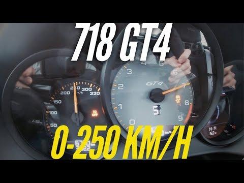 Porsche 718 Cayman GT4 : 0-250 km/h