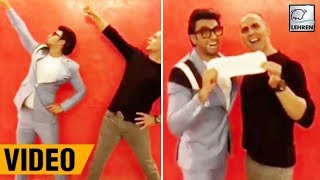 Ranveer Singh And Akshay Kumar's Funny Video For PAD MAN | LehrenTV