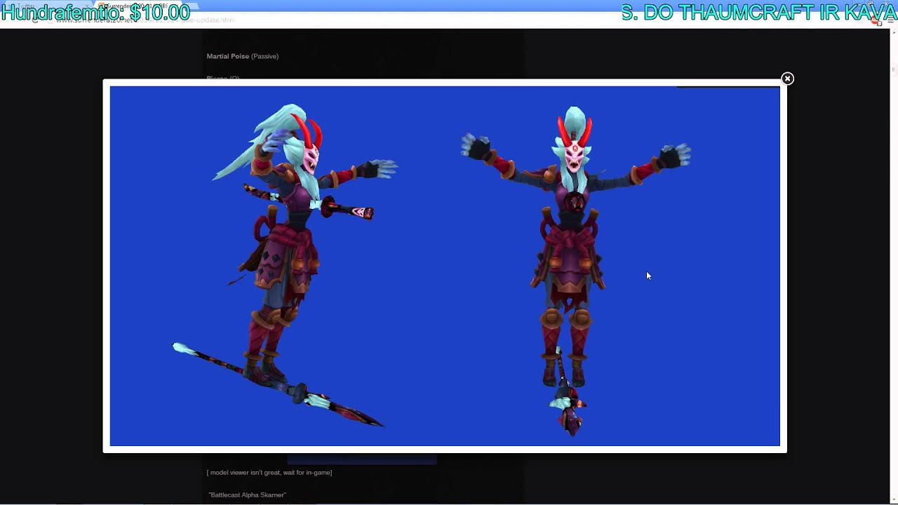 BloodMoon Kalista Skin Model - League of Legends LOL PBE , EthanD / EthanDJ