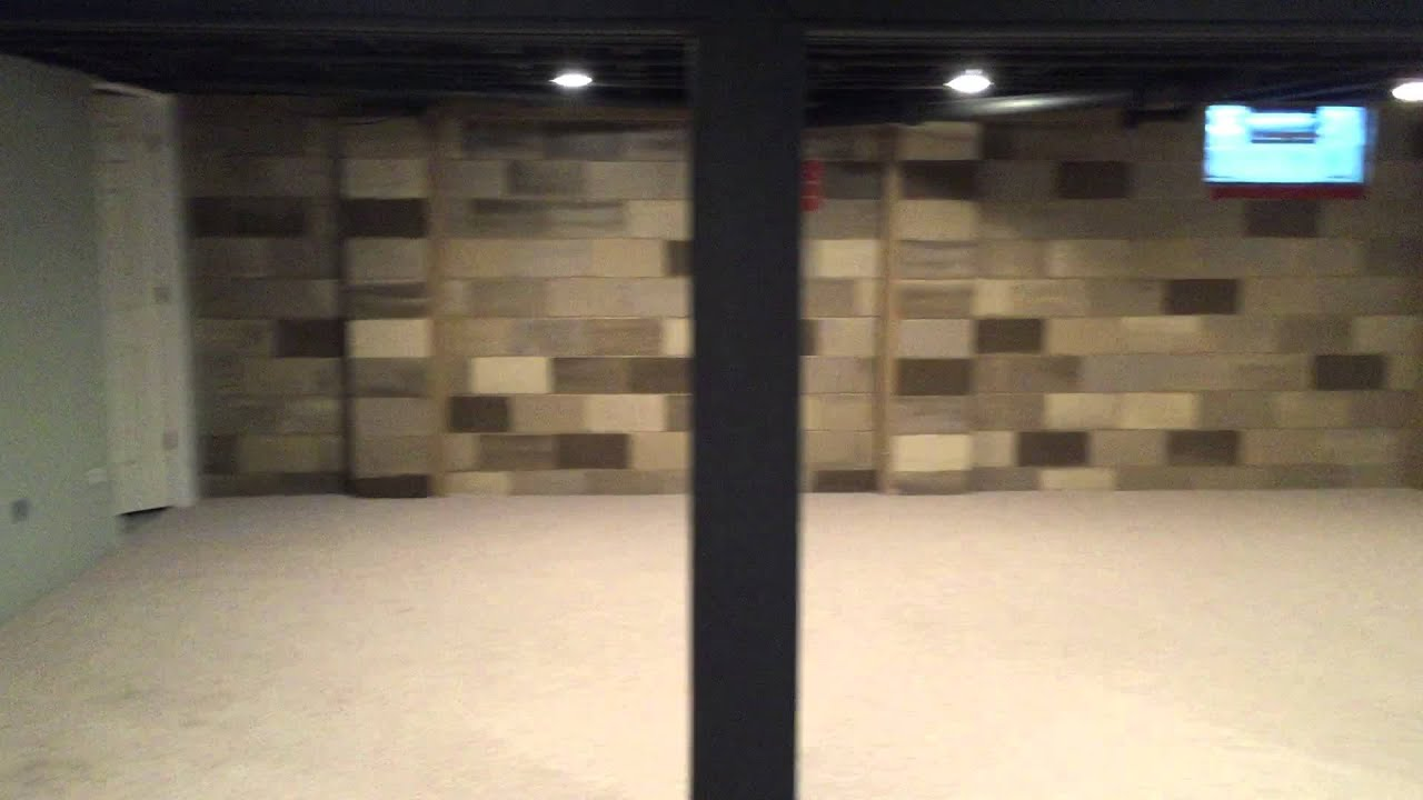basement wall paintBasement Wall Paint  Stone Effect  YouTube