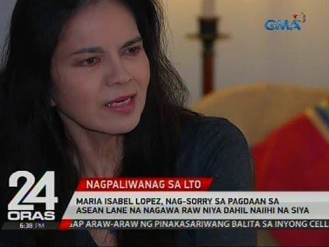 Maria Isabel Lopez, nag-sorry sa pagdaan sa ASEAN lane na nagawa raw niya dahil naiihi na siya
