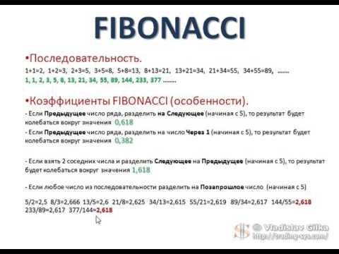 Фибоначчи FOREX трейдер. Урок №1. Магические числа Фибоначчи. (Владислав Гилка)