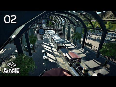 Planet Coaster | Adventure World 🌍 | Ep. 2 Entrance Gates / Train Station