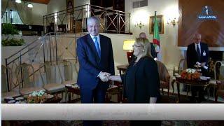 رئيسة جمهورية مالطا تستقبل رئيس المجلس الشعبي الوطني والوزير الأول