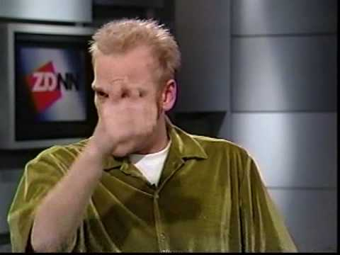 Adam Sessler on ZDTV News discussing the PS2