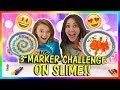 3 MARKER CHALLENGE ON SLIME! | We Are The Davises