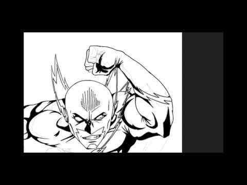 The Flash - Speed Painting - Part 2 Line Art and Inking