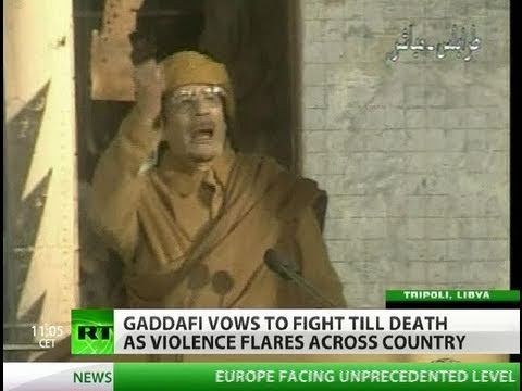 Gaddafi Speech: I will fight till death & die a martyr
