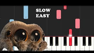 Lucas The Spider - Musical Spider (SLOW EASY PIANO TUTORIAL)
