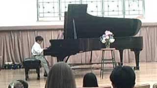 Lorenzo Romulo in his Summer Recital