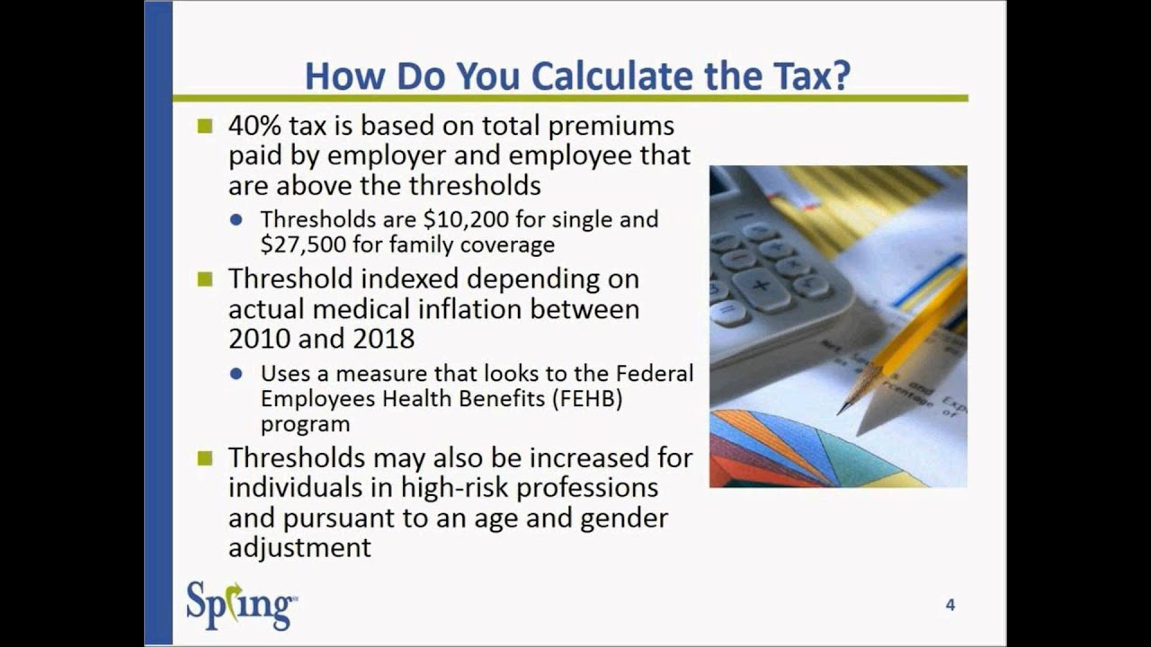 ACA update #5 October 22 The Cadillac Tax Explained - YouTube