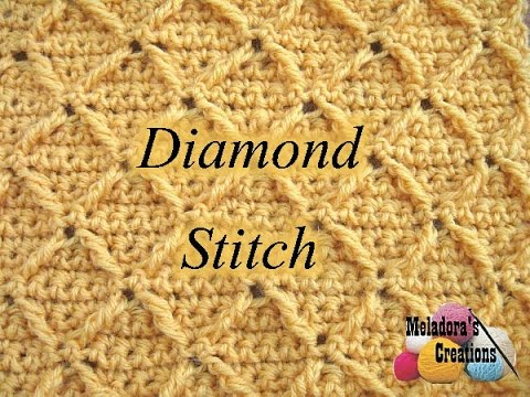 Diamond Stitch Crochet Tutorial Youtube