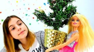 Новогодняя елка с Барби и подружкой Викой