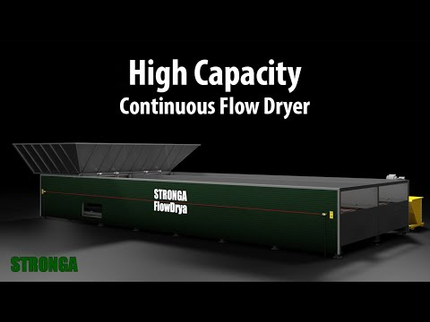 High capacity FlowDrya FD60 dryer for biomass, digestate, manure, grain & more