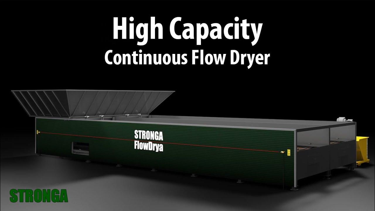 High capacity FlowDrya FD60 dryer for biomass, digestate, manure, grain &  more