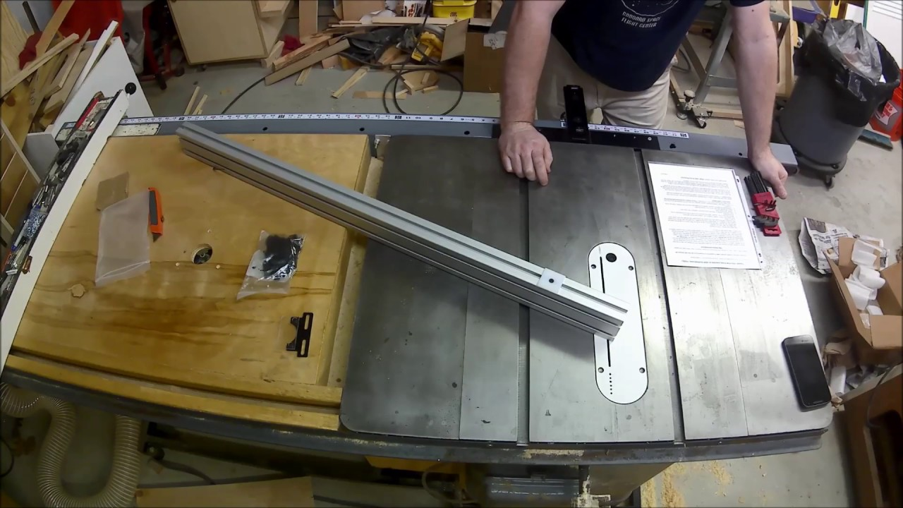 Verysupercool Tools Table Saw Fence Unboxingassemblyreview Youtube