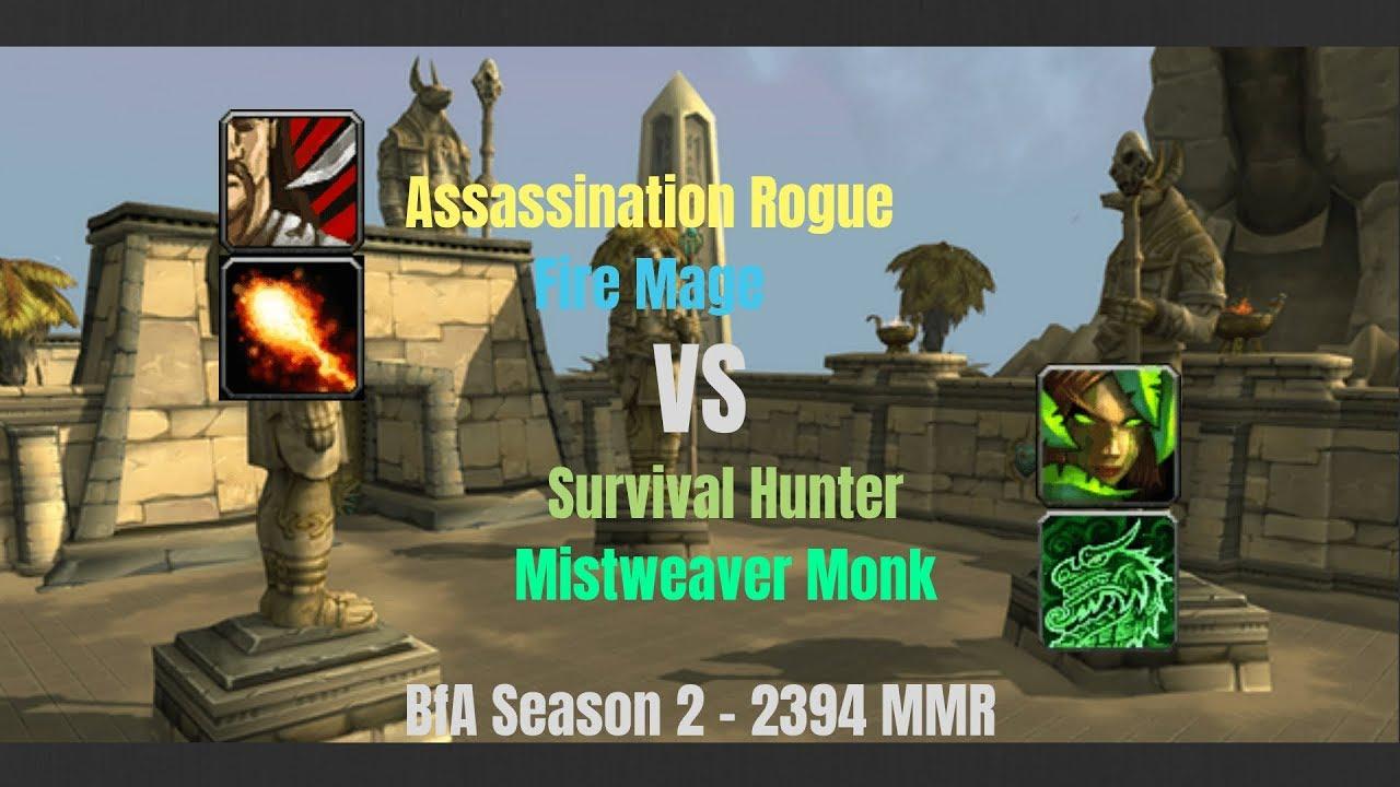 Survival hunter vs rogue bfa