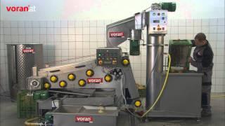 voran prensa de cinturón EBP500 con equipos de lavado y molienda