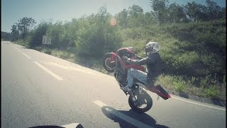 TWISTIES RIDE WITH KAILLY (wheelies / almost killed a prostitute!)